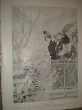 Mardi gras à Paris par Oscar Wilson 1899 OLD PRINT
