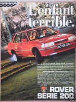 PUBLICITÉ 1985 AUSTIN ROVER SERIE 200 - ADVERTISING