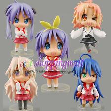 5pcs * Lucky Star Konata Izumi PVC Anime Action Figure Doll Set Of 5 pcs, New