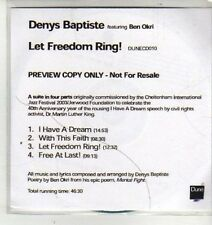 (CX38) Denys Baptiste, Let Freedom Ring! - 2003 DJ CD