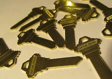 QTY 10 NEW GENUINE SCHLAGE C604-433 COINED BRASS 6-PIN STRAIGHT BLANK KEYS