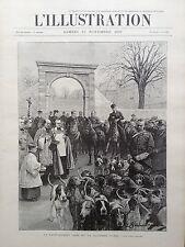 L'ILLUSTRATION 1897 N 2855 LA SAINT-HUBERT CHEZ Mme LA DUCHESSE D' UZES