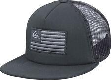 96983378 Quiksilver Mens Flag Stacker USA 5-panel Trucker Snapback Hat - Black