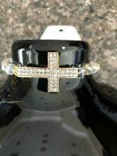 Fashion Sideway Crystal Rhinestone Cross Multi Color Beads Bracelet for Women