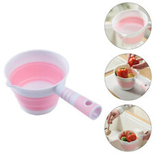 1pc Household Water Ladle Plastic Foldable Kitchen Hanging Water Scoop