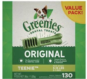 GREENIES Original TEENIE Natural Dog Dental Care Oral Health 36 oz. (130 Treats)