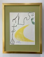 JOAN MIRO + 1971 BEAUTIFUL SIGNED PRINT MATTED 11 X 14 + BUY IT NOW!!