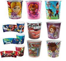 Kids Bin Disney Children Waste Paper Basket Bedroom Rubbish Tidy Room New