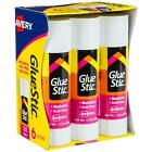 Avery Glue Stic White, 1.27 oz., Washable, Nontoxic, Permanent Adhesive, 6 Glue