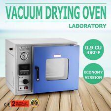 0.9 Cu Ft 480°F Lab Vacuum Air Convection Drying Oven LCD display
