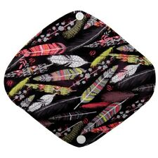 Panty Liner CHARCOAL Bamboo Mama Cloth Menstrual Reusable Pad Feather Small 8in