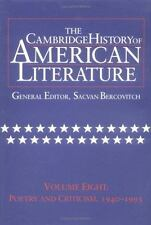 The Cambridge History of American Literature, Vol. 8: Poetry and Criti-ExLibrary