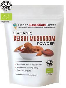 Organic Reishi Mushroom Powder (Superior Log Grown - Reishi Tea) Choose Size