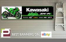 Kawasaki ZX-R Ninja Banner for Workshop, Garage, Pit Lane, 1300mm x 325mm