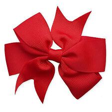 "3.5"" Grosgrain Bow Hair Clip. Girls Kids Baby Toddler Bowknot Flower Accessory."