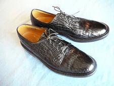 *RARE* Men's FLORSHEIM IMPERIAL Sharkskin 668116 Black Dress Shoes Size 9 A