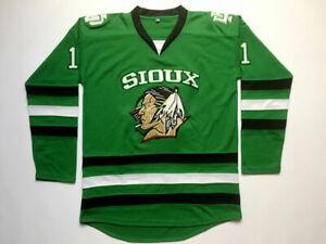 Men Zach Parise #11 Jonathan Toews #9 TJ Oshie #7 Ice Hockey Jersey Green Black