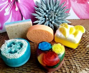 Women Men Kids Handmade Soaps,Gift Set of 5, Birthday Valentines Christmas  Gift