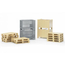 New Bruder Toys Logistics Set Bruder Pallets and Fork Lift Cages - Bruder 02415
