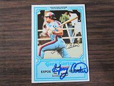 1981 Drakes # 23 GARY CARTER Autogrpah / Signed card Expos