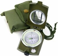 Sportneer Military Lensatic Sighting Camping Compass w/ Carrying Bag Waterproof