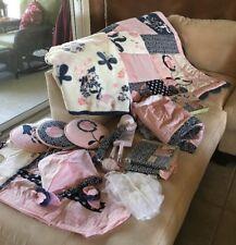 CoCaLo MADISON 12-pc Crib Bedding Nursery Set Pink Navy White PARIS Eiffel Tower
