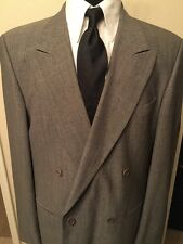 Vintage Valentino UOMO Men's 2pc Suit Gray Color No Vent Double Breasted.