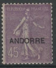 "FRENCH ANDORRA STAMP YVERT # 14 "" SOWER 45 c LILAC 1931 "" MNH VVF K649"