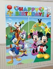MICKEY MOUSE Scene Setter BIRTHDAY party Disney wall decor + 8 photo booth props