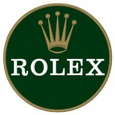 RARE OLD  PATCH  ROLEX 8CM DIAM  SUBMARINER GMT MASTER DAYTONA DAY DATE STELLA