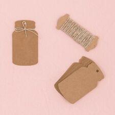 Kraft Paper Mason Jar Wedding Favor Tags 12 Pieces Weddingstar