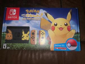 Nintendo Switch Pikachu Edition Bundle Pokemon Let's Go Pikachu + Poke Ball Plus