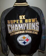 PITTSBURGH STEELERS 6 TIME SUPER BOWL CHAMPIONS Polyester Jacket   S M L XL 2X
