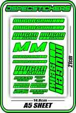 MUGEN SEIKI RC STICKER SHEET 1/8 BUGGY 1/10 CAR MTX6R MBX7R MRX6 GT ECO BLUE