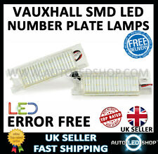 VAUXHALL CORSA D WHITE SMD LED NUMBER PLATE LIGHT LAMP UPGRADE BULBS XENON
