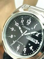 Citizen Men's Watch AW0050-82E Eco-Drive Black Dial Day Date Stainless Steel