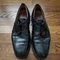 Allen Edmonds Hillcrest Black Leather Cap Toe Oxford Mens 9 D Dress Shoes Laces