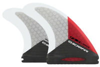 Surfboard Fins - Scarfini Fins - FX3-Quad - Red - (Futures) Medium/Large - New