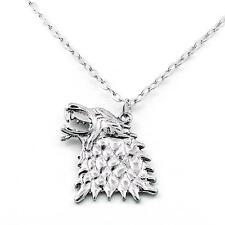 Pendentif Collier Game Of Thrones Stark Direwolf Song of ice