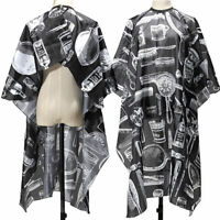 Black Hairdressing Gown Cape Hair Cut Salon Barber Nylon Cloth Wrap Protect Tool