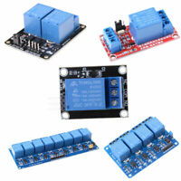 1 2 4 8 Channel 5V Relay Shield Module Board for Arduino Raspberry Pi ARM New ~