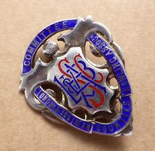Silver enamel bowling badge, London & Southern Counties Committee, height = 36mm