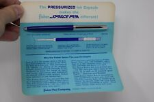 Vtg The Fisher Space Pen, Fisher Pen Company, Original Card Back