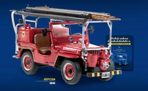 Jeep CJ2A 1946 Fire Truck Argentina Rare Diecast Scale 1:43 New Sealed+Magazine