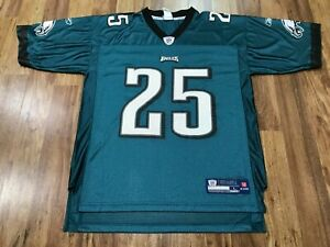 MENS LARGE - Vtg NFL Philadelphia Eagles #25 McCoy Reebok Printed Jersey