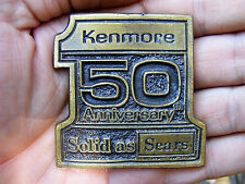 Vtg SEARS KENMORE Belt Buckle 1976 Store 50 LOGO #1 Brass 3D Craftsman RARE VG++