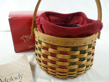 *Longaberger Tree Trimming Collection 2003 Melody Basket