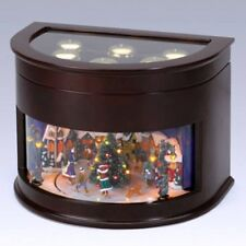 Mr. Christmas MUSIC BOX ANIMATED SYMPHONY OF BELLS TRAIN 50-Songs  ships *FREE*