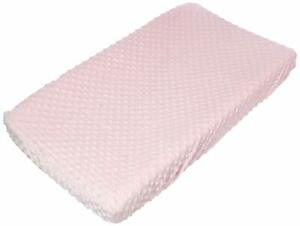 Carter's Embossed Changing Pad Cover, Solid Pink, One Size