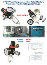"""1/4"""" compresseur air filtre eau humidité séparateur piège outils regulator gauge"""
